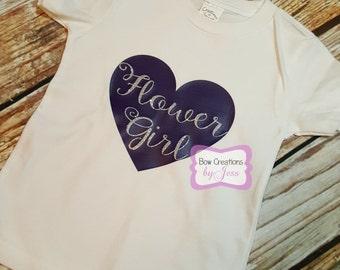 Flower Girl Heart Tshirt | Flower Girl Gift |  Will You be Our Flower Girl | Wedding | Bridal Party| Shirt | Wedding Party | Wedding Gift |