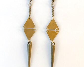 Brass Spike Earrings