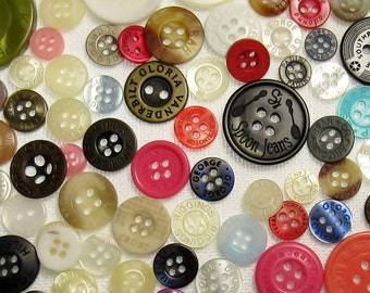 Branded Button Assortment - Set of 150 Vintage to Contemporary Buttons