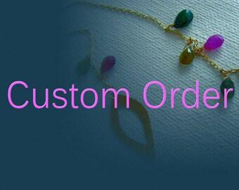 Custom order for Lily - 14k gold rings