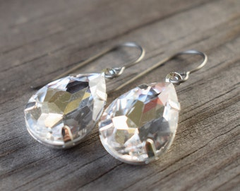 Crystal Earrings with Hypoallergenic Titanium Ear Wires