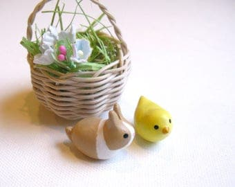 Easter Gift, Bunny and Chick, Easter Basket, Easter tree ornament