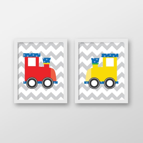 Train Wall Art train print,train wall art,train wall decor,kids wall art,nursery