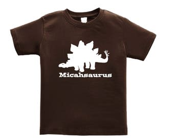 Dinosaur Birthday Shirt - any name - pick your colors!