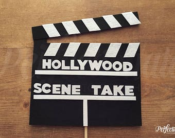 Director's Clapboard Photo Booth Prop | Hollywood Photo Prop | Customizable Directors Sign | Hollywood Table Centerpiece