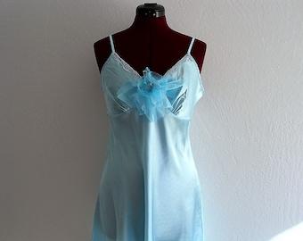 Sale Sky Blue Romantic Slip Dress