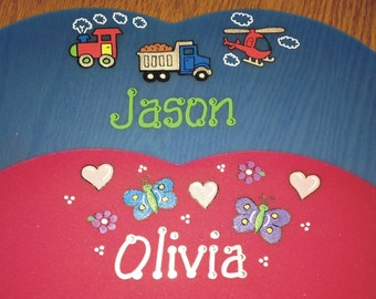 Placemat, Craft Mat - Hard Plastic Personalized, Washable Plastic Placemat, Durable Custom Hand Painted Design / Personalized Place Mat