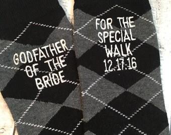Groom Socks - Godfather of the Bride Socks - Groom Gift - Special Socks - Black - Wedding Socks - Groomsmen Gift - Godfather gift