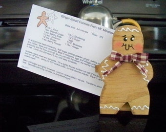 Gingerbread Recipe Card Holder