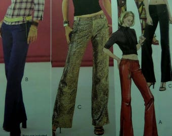 LOW RISE PANTS Pattern • McCall's 3348 • Miss 4-10 • Fly Front Pants • Vented Leg Pants • Sewing Pattern • Modern Patterns • WhiletheCatNaps