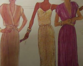 SLIP DRESS Pattern • McCalls 6905 • Miss 10 • Slit Hem Evening Dress • Pullover Dress • Sewing Patterns • Womens Patterns • WhiletheCatNaps