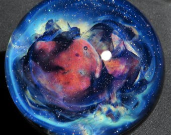 Mountian Nebula Glass Marble