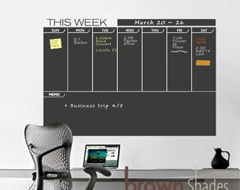 Weekly Wall Planner Chalkboard Decal- SALE!