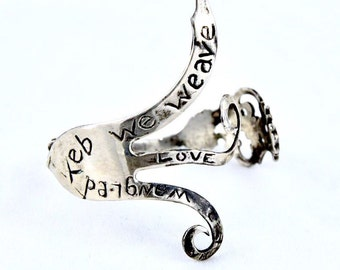 Antique Sterling Silver Fork Albee Love Bracelet