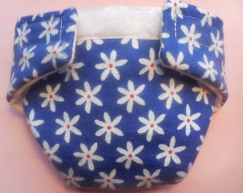 Ready to Ship size #2 cloth Doll Diaper white flower adjusts fits bitty baby some baby alive cabbage all gone American Girl doll & more