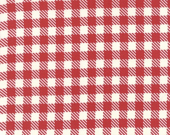 Mama Said Sew Revisited Gingham in Apple Red, Sweetwater, Moda Fabrics, 100% Cotton Fabric, 5616 12