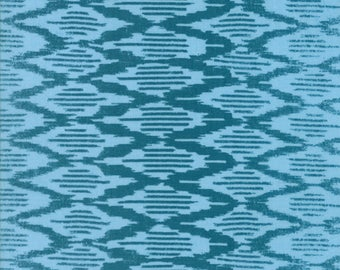 Spellbound Ikat in Turquoise Sky,  Urban Chiks, 100% Cotton, Moda Fabrics, 31116 16