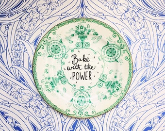 Babe with the Power, David Bowie, Labyrinth quote, home decor, vintage plate