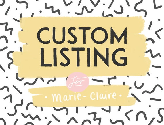 Custom Listing for Marie-Claire!