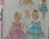 Fabulous Vintage 50s DOUBLE-BREASTED DRESS Girls' Pattern Factory Folded