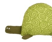 Tortoise Soft Toy, Green Turtle Plush Animal Pillow, Birthday Gift for Kids, for Children, Green Tortoise, Cuddly Toy Animal, Poosac