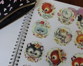 Baby Animals sticker, animal stickers, animal envelope sticker, Kawaii Stickers, planner sticker