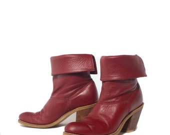 SALE 6 B | Women's High Heel Laredo Red Leather Western Boots