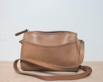50% OFF Sale Zip Top Brown Leather COACH Shoulder Bag Purse