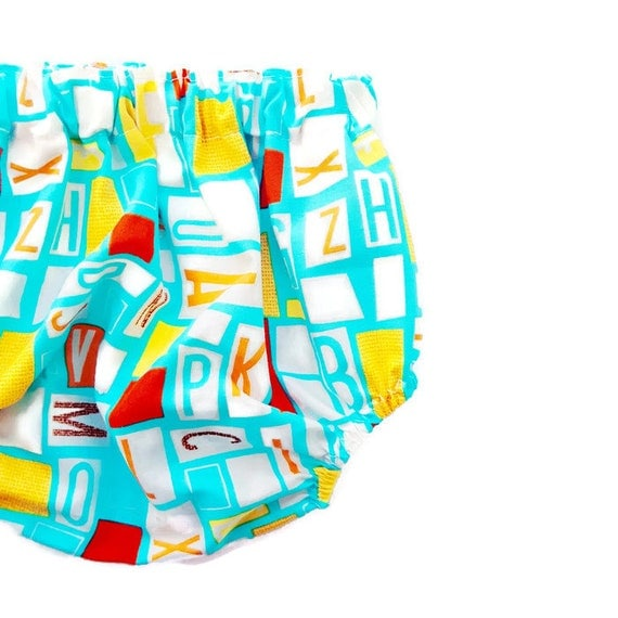 Organic Alphabet Baby Boy Diaper Cover Bloomers