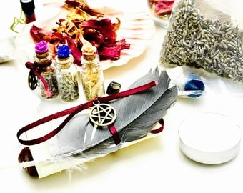 Beginner's Witchcraft kit Handmade Wicca Altar kit for rituals or gifts for any occasion. For protection, abundance or love & EXTRAS