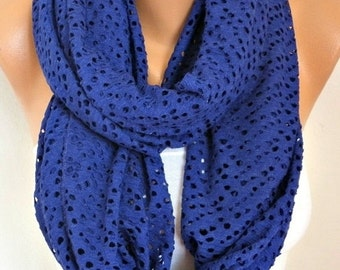 ON SALE --- Tricot Filet Infinity Scarf Spring Summer Scarf Cowl Circle Loop Oversized Gift Ideas For Her Women Fashion Accessories Bridesma