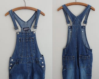 90's grunge Stephen Hardy Squeeze Jeans distressed Denim  Bib Overalls