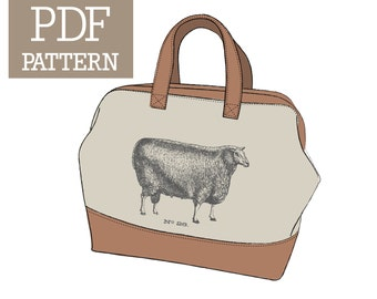 Sheep No. 26 Mason Bag Knitting Tote PDF Pattern