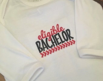 Eligible Bachelor Onesie - Valentine's Day for Boys