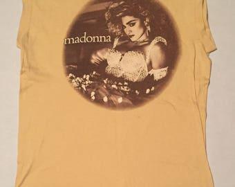 Vintage 1985 Madonna The Virgin Tour Sleeveless T-Shirt