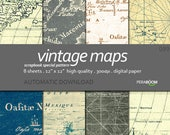 old maps digital papers, vintage maps backgrounds, old maps digital patterns, old maps, vintage maps, Dad, nautical, Small commercial use