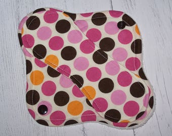 Cotton Top panty liner with wings 8 inches in Dots