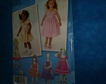 Simplicity 2265 Girl's Size 4-8  Summer dresses.