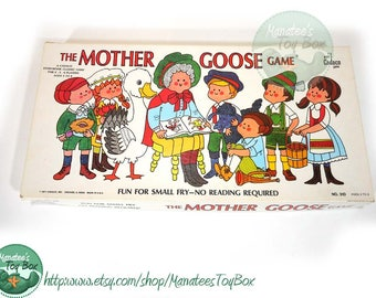 Vintage Mother Goose Game Board Game by Cadaco 1970s Toy