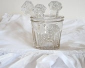 RESERVED    ON SALE for a week French Antique Jam Jar - French Glass Jar - Jam - French Jam - french kitchen