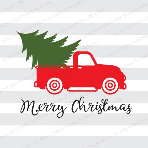 Vintage Truck Christmas Tree Delivery Svg Dxf Png Pdf Jpg Ai