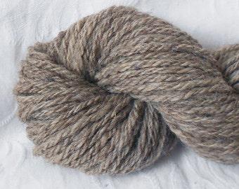 Gray Handspun Wool Yarn