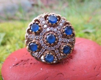 16 SALE! Sterling Silver Turkish Harem Ring Size 9.5