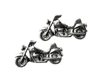 Motorcycle Cufflinks - Gifts for Men - Anniversary Gift - Handmade - Gift Box Included