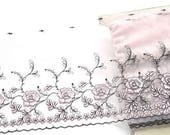 Pale Pink Lace Trim, Light Pink Flowered Lace, Blush Pink, black and Pink, Pink Lingerie, Lace Crafts, Dolls, Lace Dress, Lace Decor