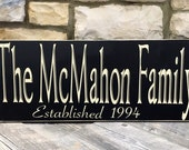 Parents Christmas Gift - Family Christmas Gift House warming gift Custom Family Name & Established Year Wooden Sign -Great Anniversary or we