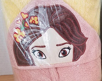 Latin Princess Elena Hooded Towel