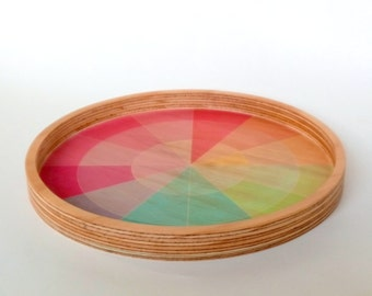 Objectify Color Swatch Printed Plywood Bowl or Tray