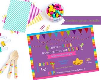 Printable fiesta bachelorette invitation / fiesta bachelorette party invite / bachelorette fiesta / fiesta invitation / mexico bachelorette