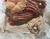 Lace Combo Embellishments #10, Peach, DIY, Journals, Scrapbooks, Trims, Sewing
